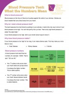 Blood Pressure Test: What the Numbers Mean Fact Sheet